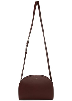 A.P.C. Burgundy Demi-Lune Bag