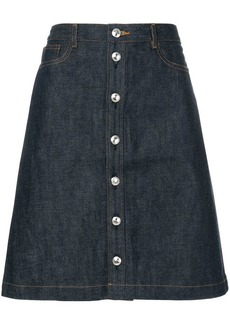 A.P.C. buttoned denim skirt