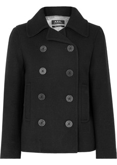 A.P.C. Caban Swinging Cropped Double-breasted Wool-blend Coat