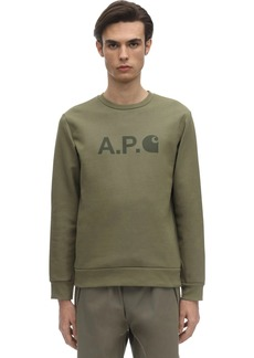 A.P.C. Carhartt Logo Cotton Sweatshirt
