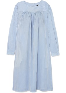 A.P.C. Cassie Striped Cotton-poplin Dress