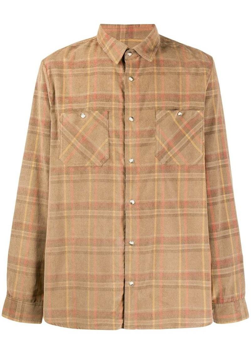 A.P.C. checked cotton shirt