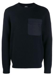 A.P.C. chest pocket jumper