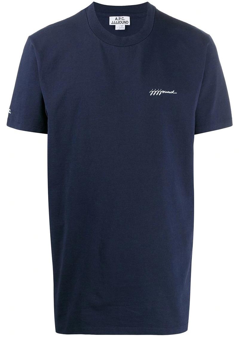 A.P.C. chest print T-shirt