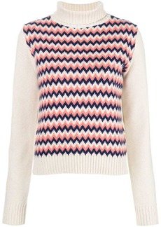 A.P.C. chevron knit sweater
