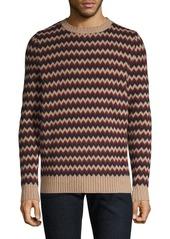 A.P.C. Chevron Stripe Wool Sweater