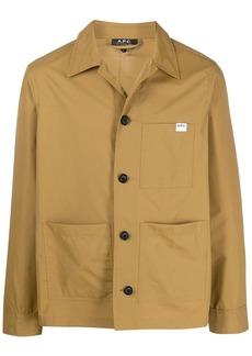 A.P.C. classic buttoned shirt-jacket