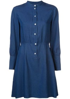 A.P.C. collarless shirt dress