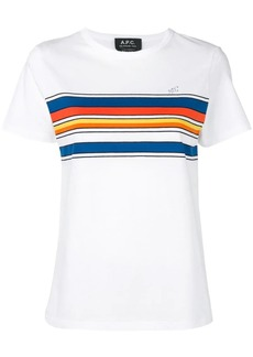 A.P.C. colour block stripe T-shirt
