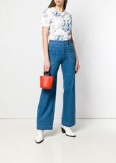 A.P.C. contrast stitch flared jeans