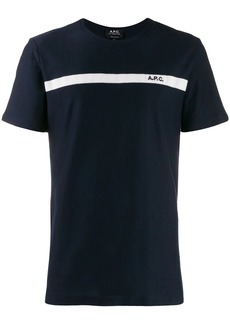 A.P.C. contrasting stripe T-shirt