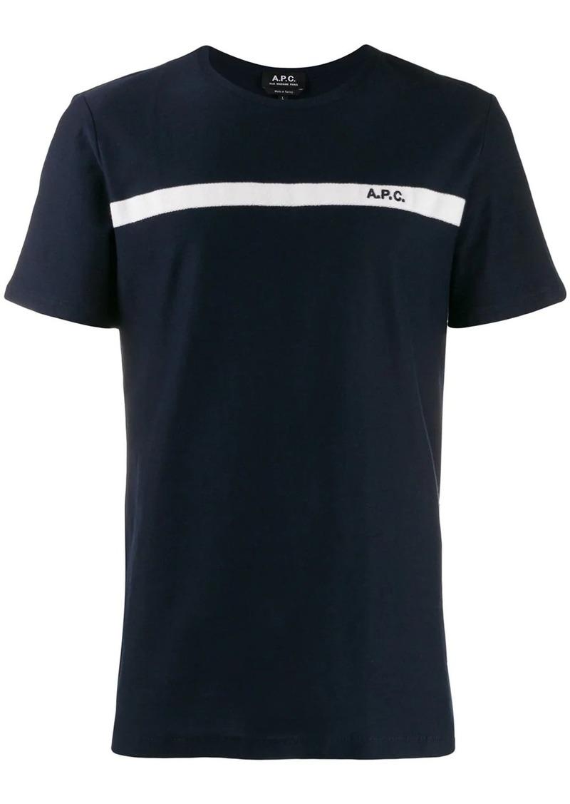 A.P.C. contrasting stripe T-shirt