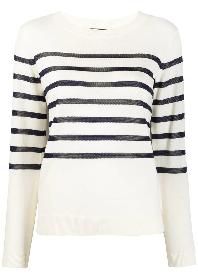 A.P.C. Cordelia striped slim-fit jumper