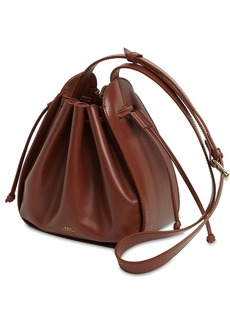 A.P.C. Courtney Small Leather Bucket Bag