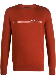 A.P.C. crew-neck logo jumper