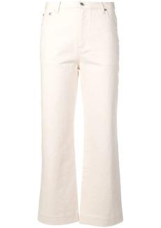 A.P.C. cropped wide leg jeans