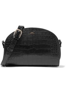A.P.C. Demi-Lune croc-effect leather shoulder bag