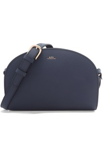 A.P.C. Demi Lune Textured-leather Shoulder Bag
