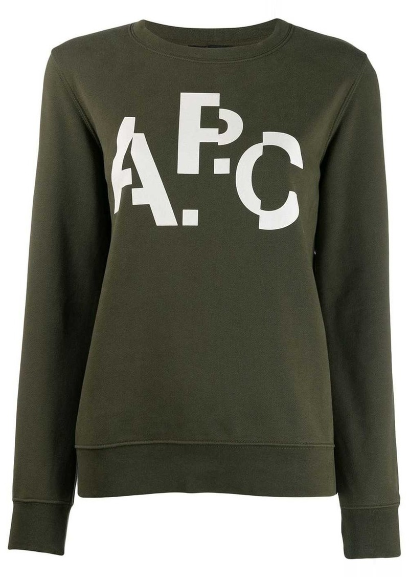 A.P.C. distorted logo jumper