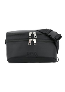 A.P.C. double zipped belt bag