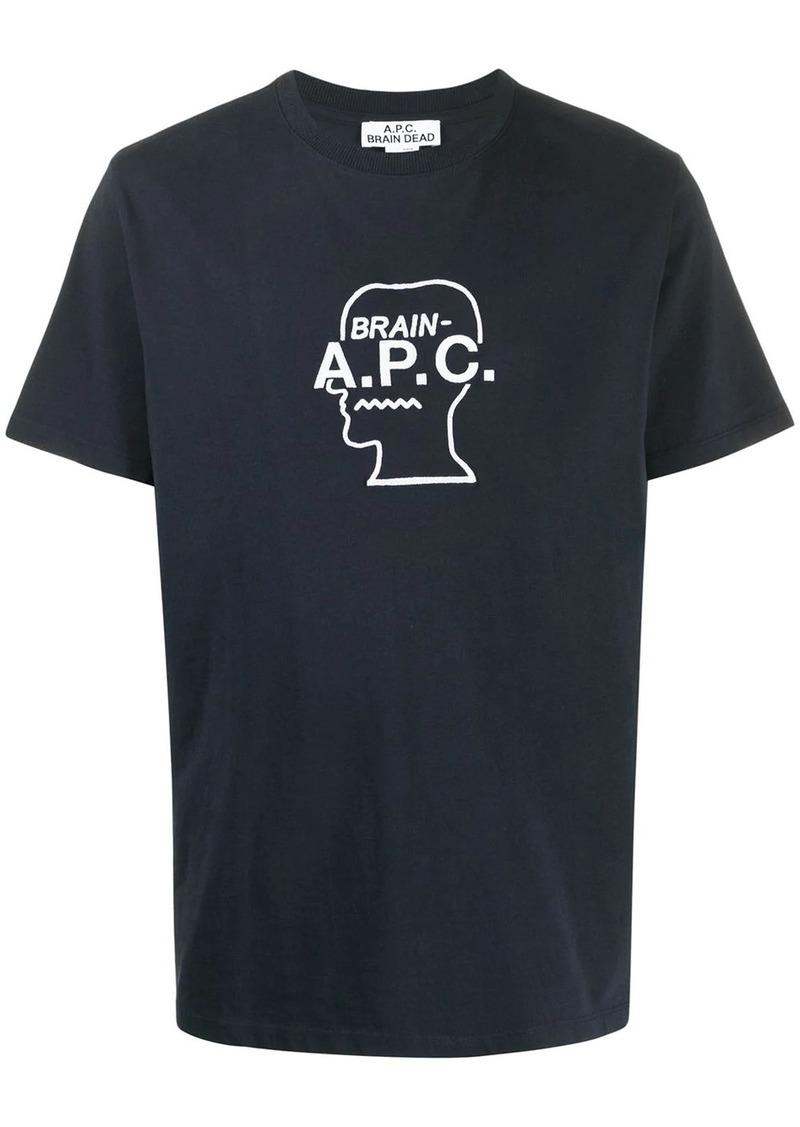 A.P.C. x Brain Dead embroidered logo T-shirt