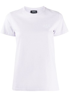 A.P.C. embroidered logo T-shirt