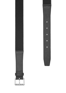 A.P.C. Fabric Belt with Leather