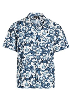 A.P.C. Floral Short-Sleeve Button-Front Shirt