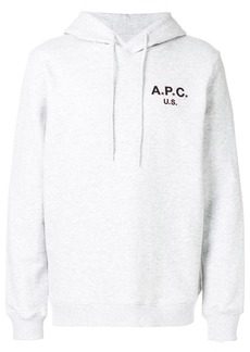 A.P.C. front logo hoodie