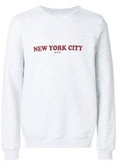 A.P.C. front printed sweatshirt