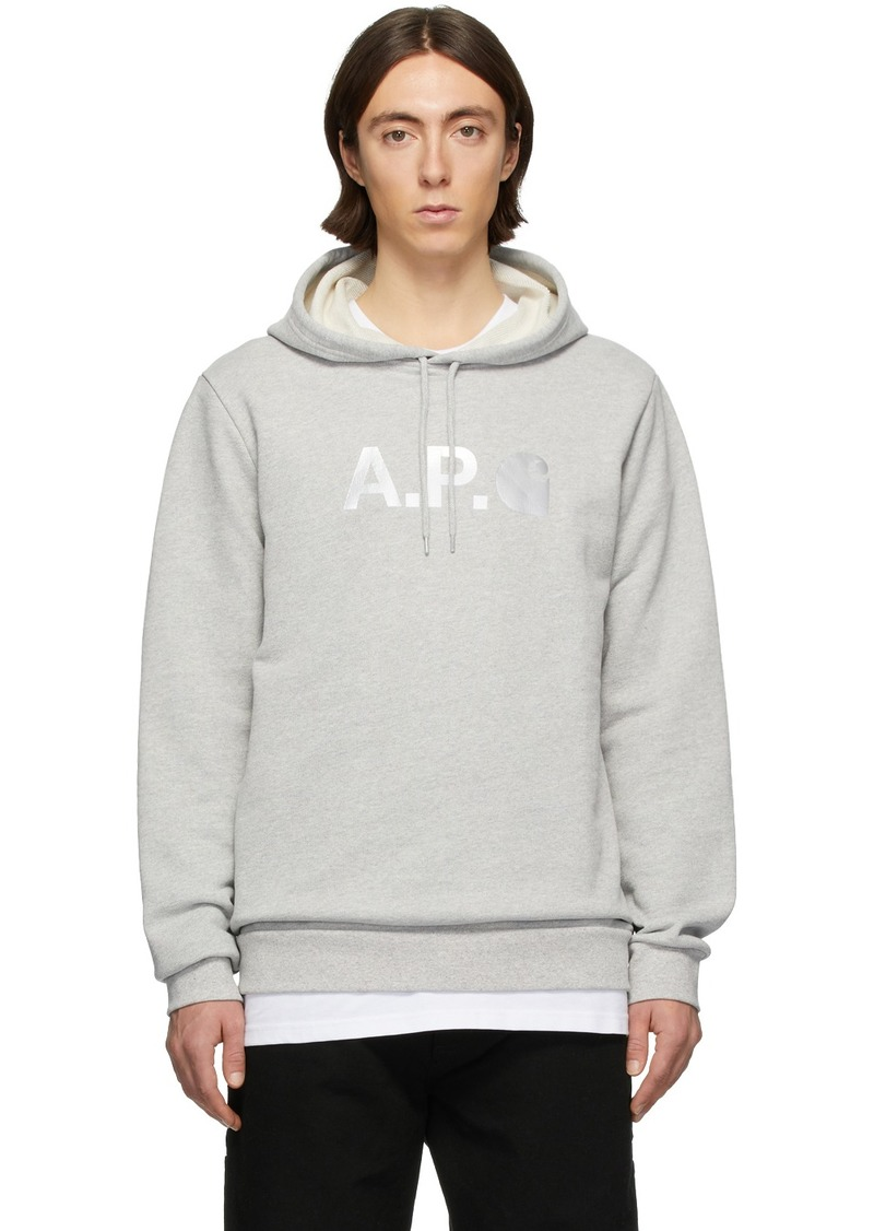 A.P.C. Grey Carhartt WIP Edition Stash Hoodie