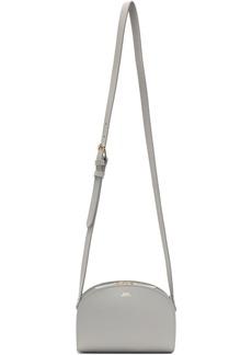 A.P.C. Grey Mini Demi-Lune Bag
