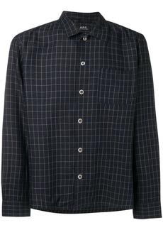 A.P.C. grid pattern shirt