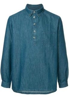 A.P.C. half-button denim shirt