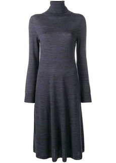 A.P.C. high neck flared dress