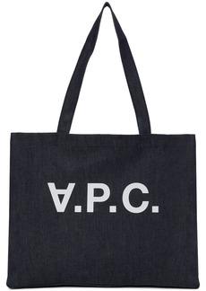 A.P.C. Indigo Daniela Shopping Tote