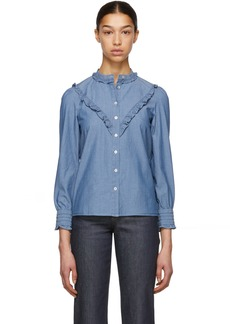 A.P.C. Indigo Polly Blouse