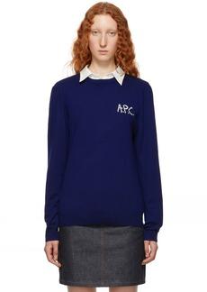 A.P.C. Indigo Sapiens Sweater
