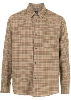 A.P.C. john check shirt