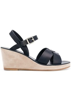 4dc41bdf1 A.P.C. A.P.C. Judith leather and suede wedge sandals