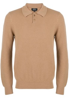 A.P.C. knitted polo shirt