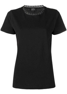 A.P.C. lace neck T-shirt