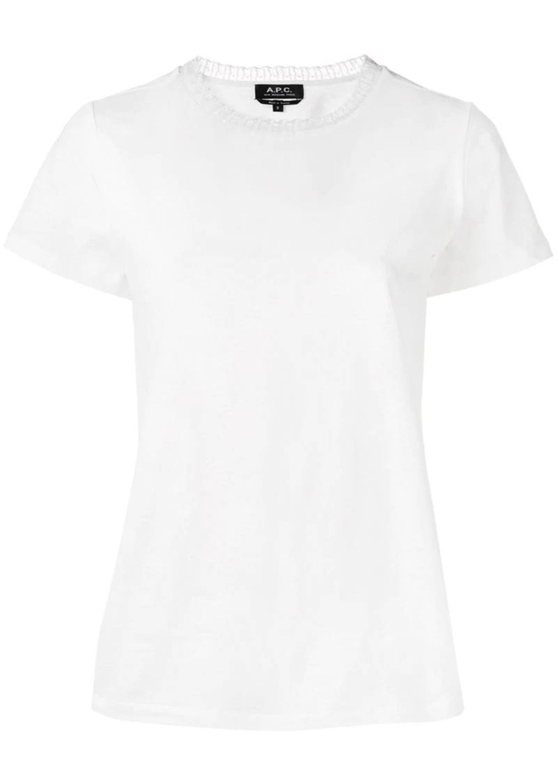 A.P.C. lace-trim fitted T-shirt