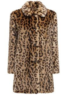 A.P.C. Leopard Print Faux Fur Crop Jacket