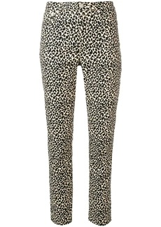 A.P.C. leopard print fitted trousers