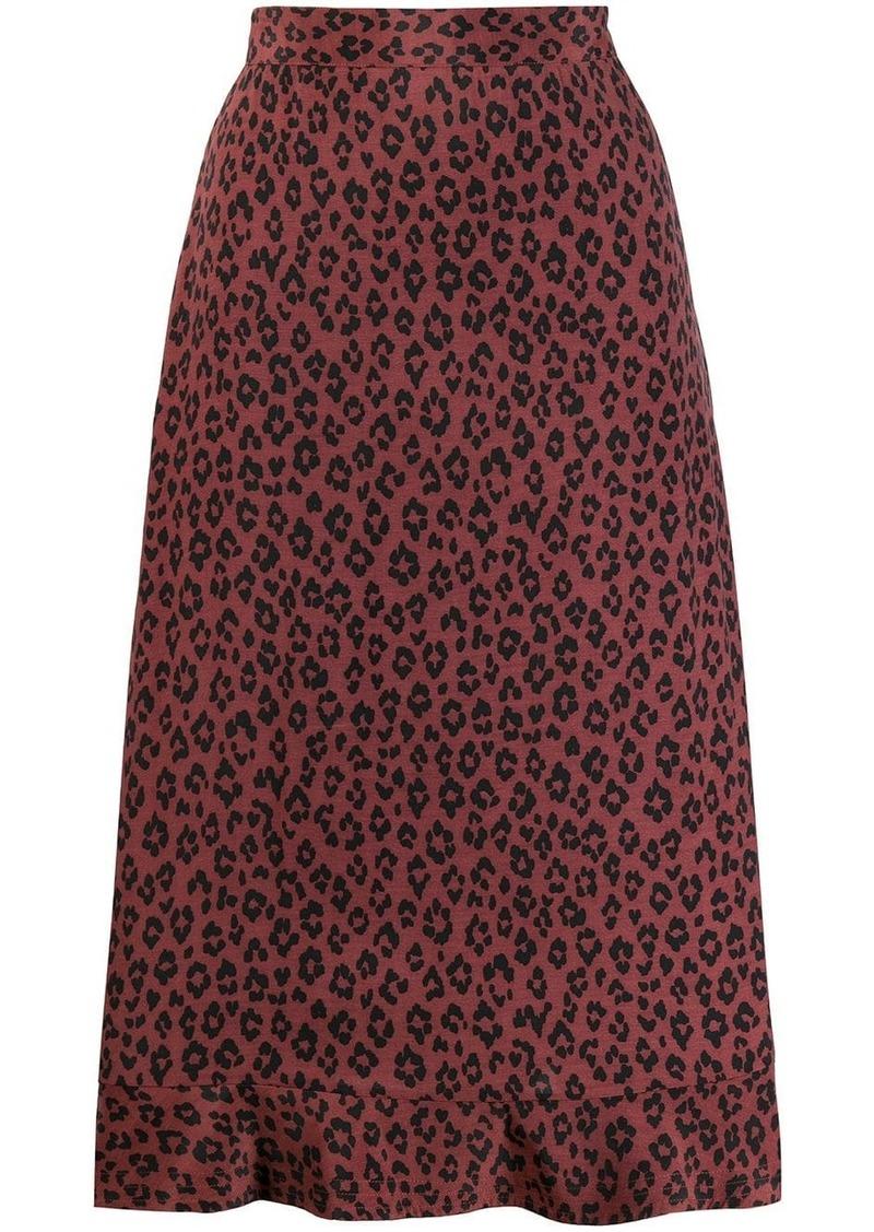 A.P.C. leopard print skirt