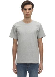 A.P.C. Logo Detail Cotton Jersey T-shirt