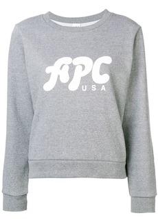 A.P.C. logo print jersey sweater