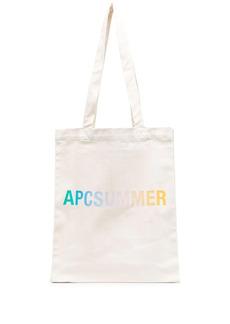 A.P.C. logo-print tote bag