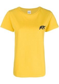 A.P.C. logo printed T-shirt